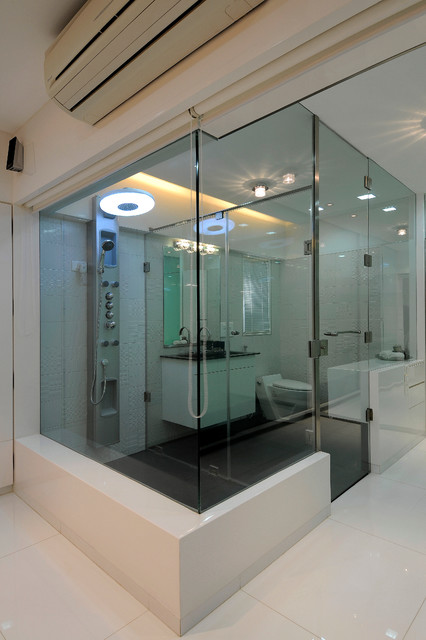 High end residential project at hm for High end modern bathrooms