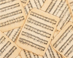 beige music sheets fabric by Timeless Treasures USA  fabric
