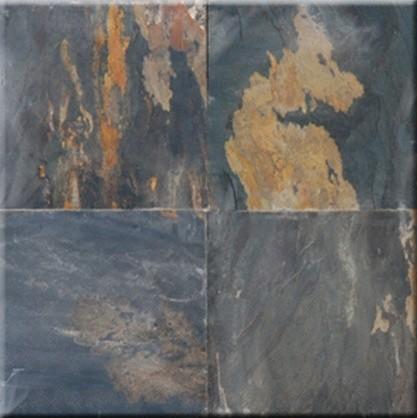 """Black Rust Cleft Finish Square Pattern Slate Flooring Tiles 12"""" x 12"""" modern-floor-tiles"""