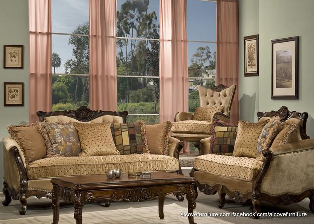 Traditional sofa sets living room sets for Elegant traditional living room furniture