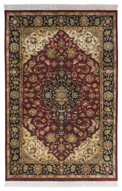 Burgundy kitchen rugs for Traditional kitchen rugs