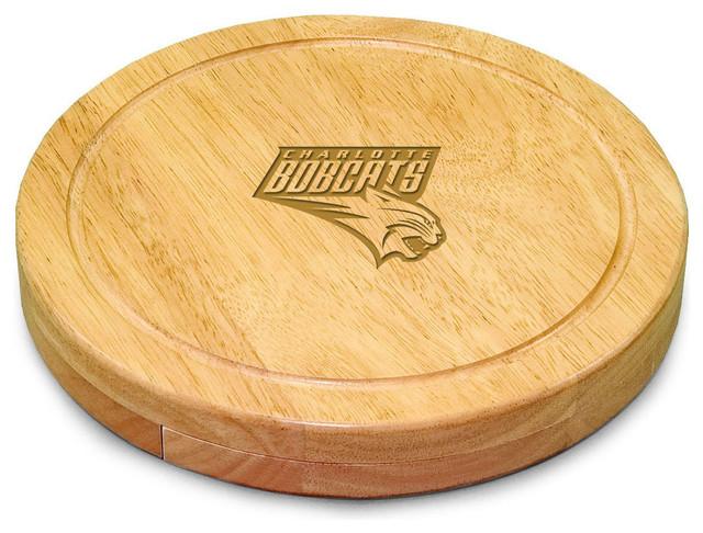 Charlotte Bobcats Circo Cheese Board in Natural modern-cutting-boards