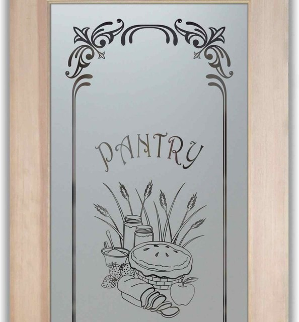 Pantry Doors - Frosted Etched Glass Designs - Eclectic - Pantry And Cabinet Organizers - other ...