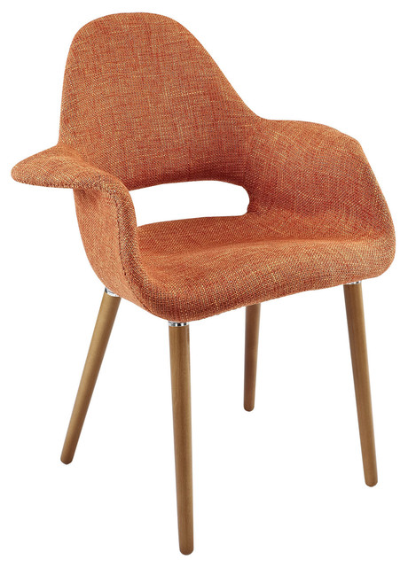 The Barclay Organic Style Dining Arm Chair Contemporary