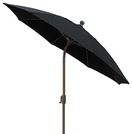 9 foot black patio octagon umbrella with ch bronze