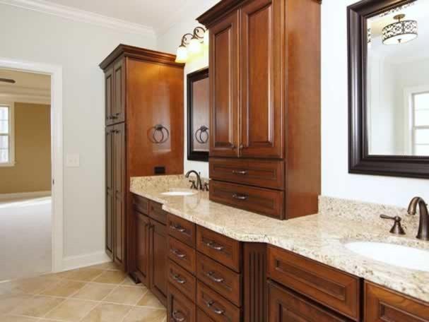 Vanity Side Splash : Bathroom countertops