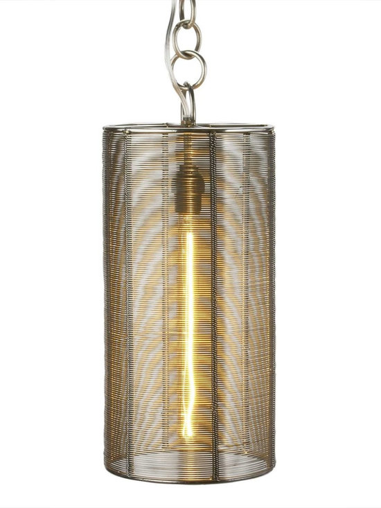 Steel Wrapped Wire Lamp -