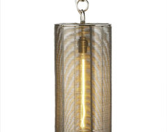 Steel Wrapped Wire Lamp contemporary pendant lighting