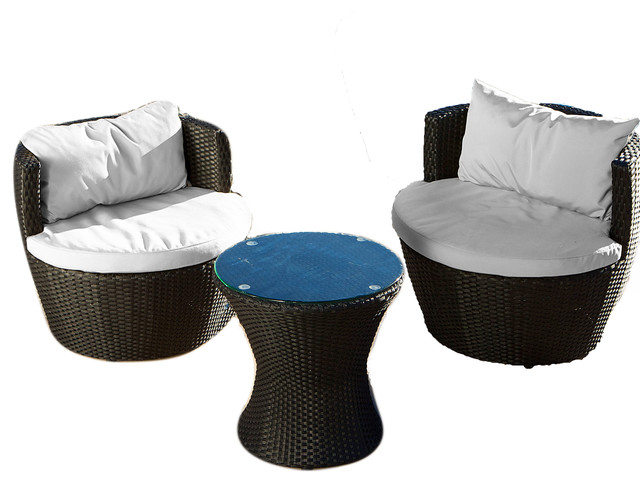 Pattaya 3 piece outdoor chat set beach style outdoor for Outdoor furniture pattaya