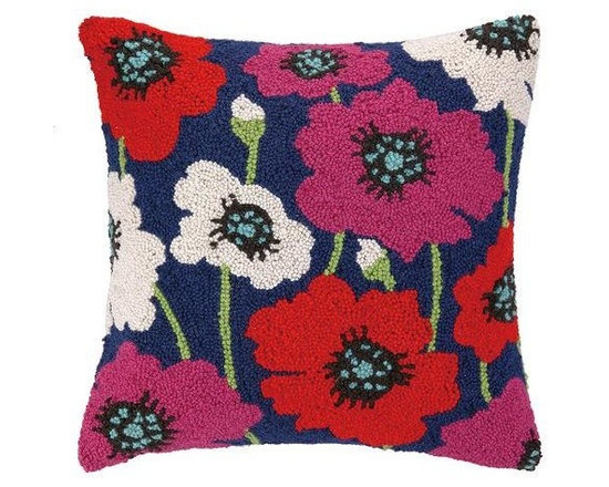 PHI - PHI Poppy Hook Pillow - Floral Poppy Hook pillow by PHI