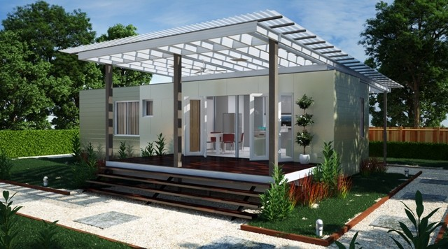 Kiev two bedroom container home modern brisbane by nova deko - Container homes queensland ...