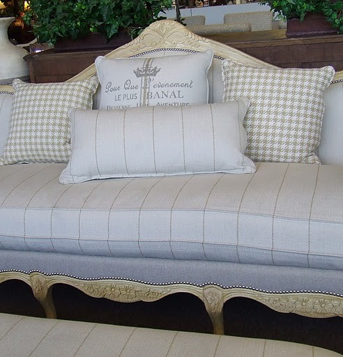 Fabulous Designer French Laundry Print Sofa By Southern