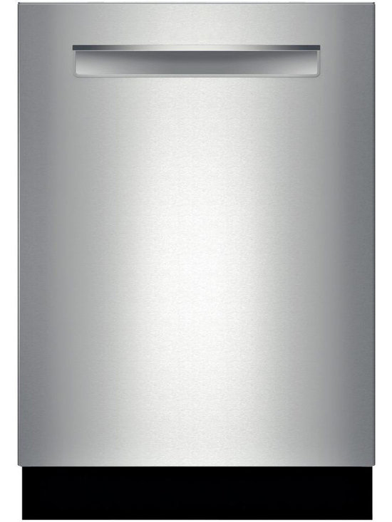"""Bosch 24"""" 300 Series Flush Handle Dishwasher, Stainless Steel 
