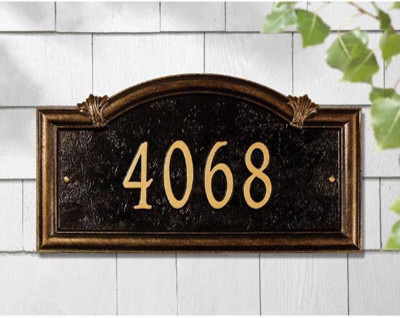 Somerset Arch Address Sign traditional-house-numbers
