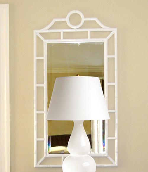 Chloe White Mirror contemporary-wall-mirrors