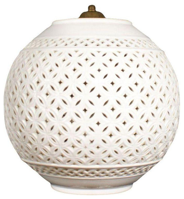 Regency White Ceramic Pendant Lamp