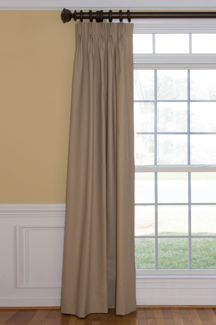Solids and textures make it easy! traditional-curtains