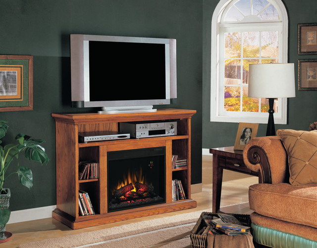 Beverly Electric Fireplace Tv Stand In Premium Oak 23mm374 O107 Traditional Indoor