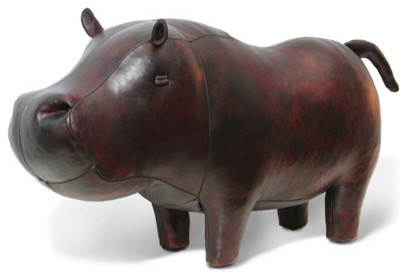 Jonathan Adler Hippo in Leather Animals eclectic ottomans and cubes