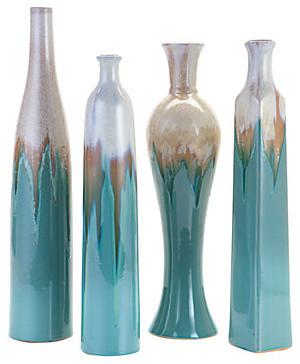 Azure Vases Set Of 4 Modern Vases By Z Gallerie