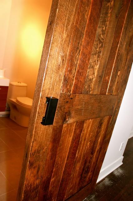 Bathroom Barn Door - Rustic - Interior Doors - montreal - by Hayes Nulman Design