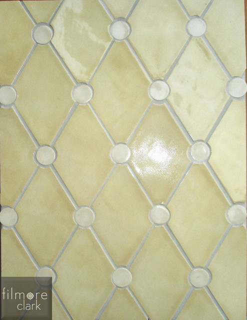 Diamond tuck traditional kitchen tile