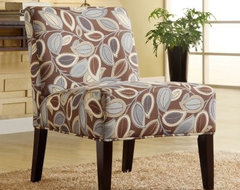Becci Fabric Accent Chair - Leaves modern-chairs