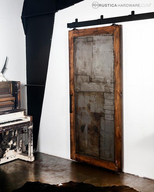 ... Scrap Metal Door - Industrial - salt lake city - by Rustica Hardware