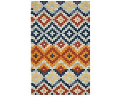 Hand-Hooked Chelsea Southwest Multicolor Wool Rug traditional-rugs