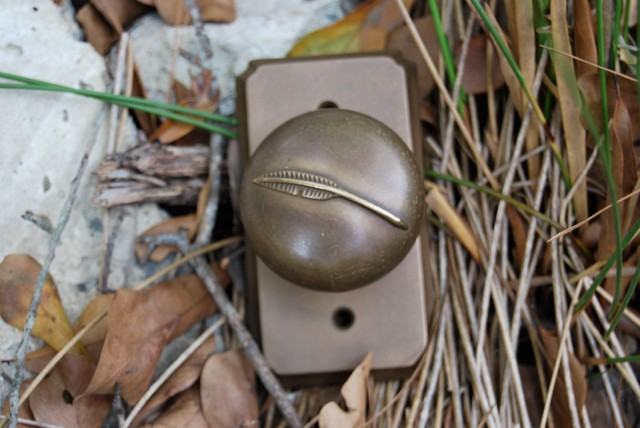Outdoors-inspired door knob from Longleaf Collection's Bob Timberlake line traditional-cabinet-and-drawer-knobs