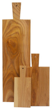 Blonde Cutting Board with Handle contemporary-cutting-boards