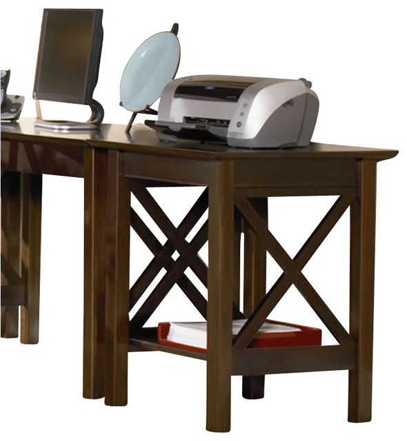 Atlantic Furniture Lexington Printer Stand in Antique Walnut - Transitional - Office Carts And ...