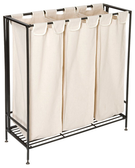 Iron folding hamper contemporary hampers by the container store