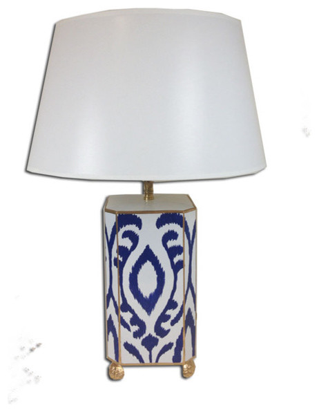 blue ikat lamp contemporary table lamps by furbish