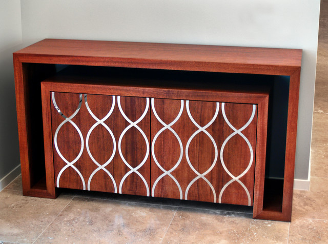 Contemporary buffet with Mahogany and Stainless Steel Inlays contemporary-buffets-and-sideboards