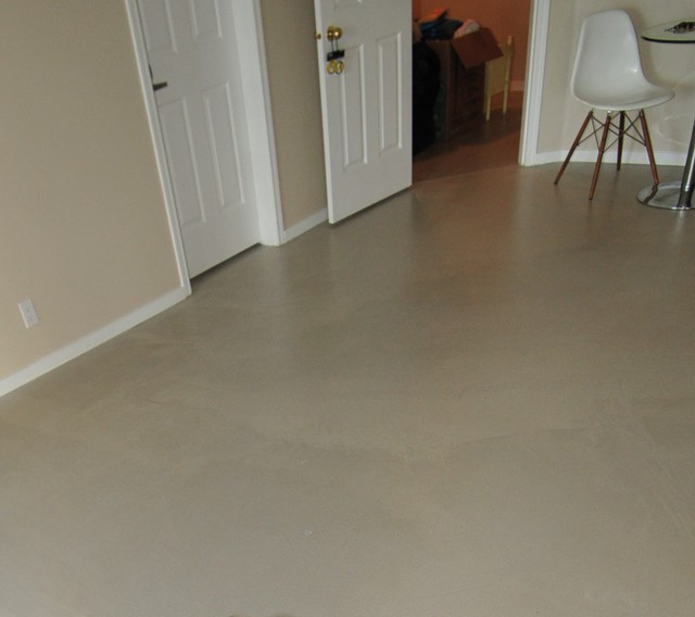 floors overlays and concrete surface waxing sealing modern basement