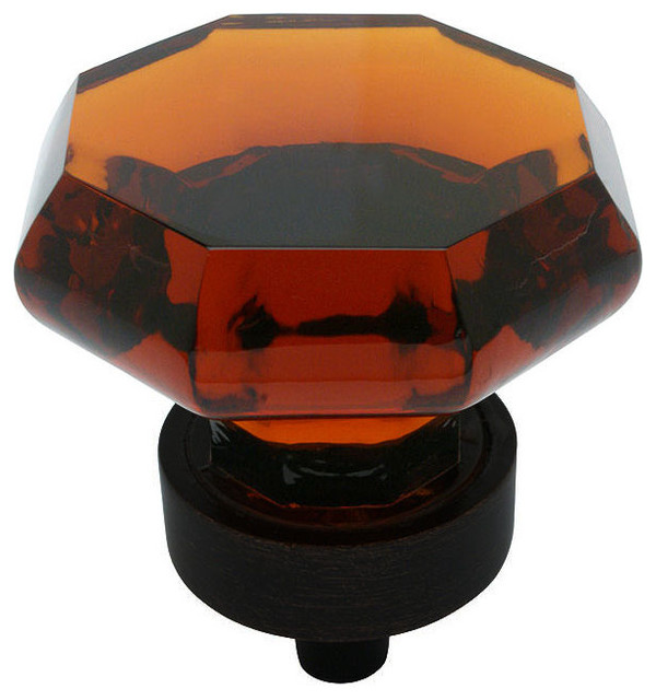 Amber Glass Cabinet Knob  Traditional  Cabinet And Drawer Knobs  by