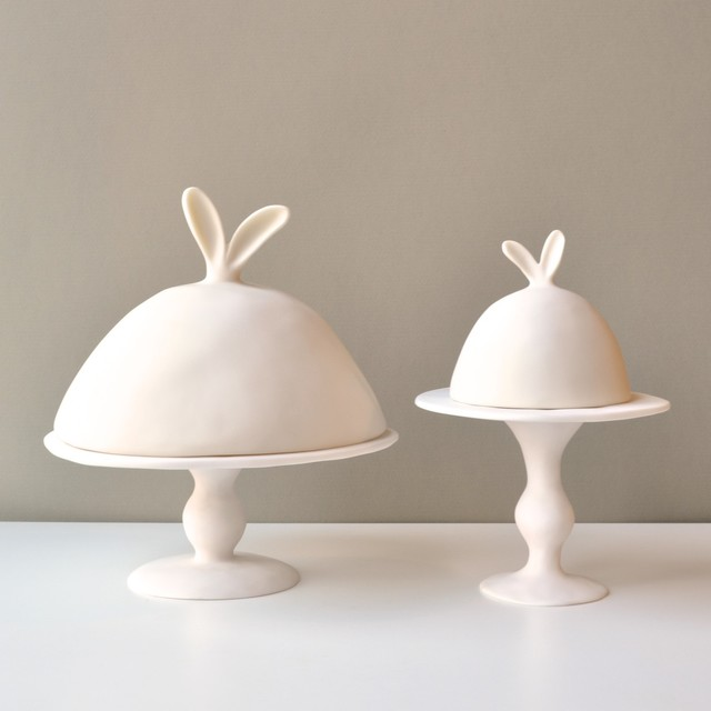 Lapin Collection Dome and Pedestals contemporary serveware