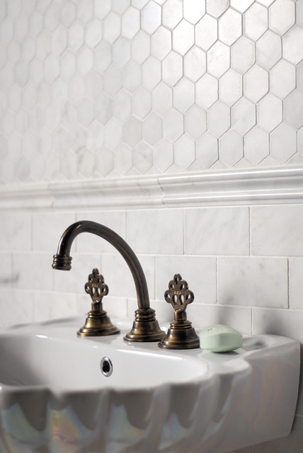 glacier marble collection traditional tile by marble systems