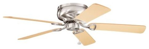 """52"""" Stratmoor 52"""" Ceiling Fan Brushed Stainless Steel contemporary-ceiling-fans"""