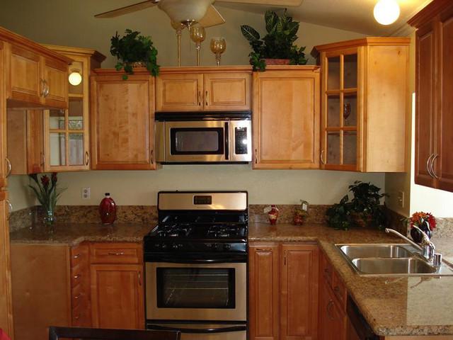 Cinnamon Maple Kitchen Cabinets Home Design Traditional
