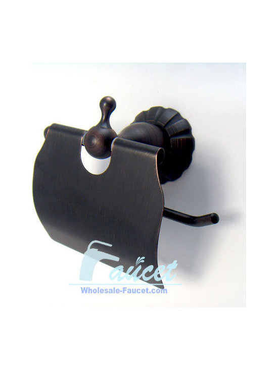 Oil Rubbed Bronze Toilet Roll Holder - Features: