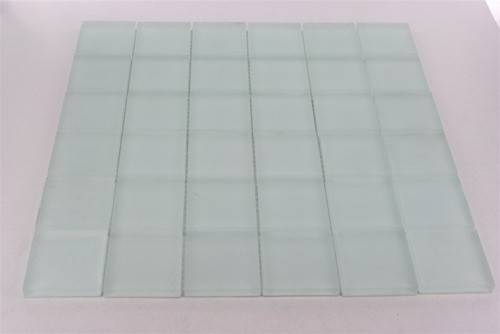 Crystal Series Super White Frosted Glass Tile  bathroom tile