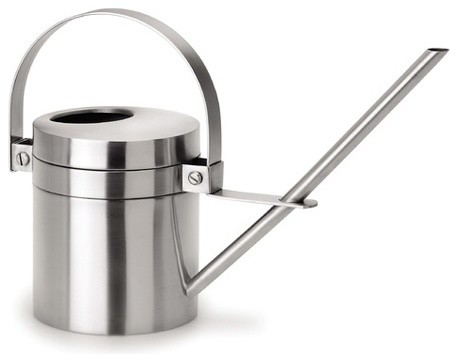 Aguo Stainless Steel Watering Can, Small modern-watering-cans