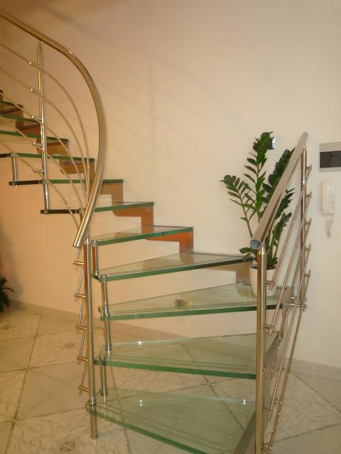scala in acciaio inox e vetro. Black Bedroom Furniture Sets. Home Design Ideas