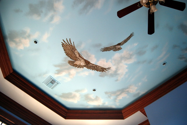 Sky Ceiling with Red-tailed Hawks by Tom Taylor of Wow Effects in Virginia contemporary