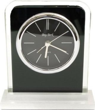 "Bey-Berk International ""Lachin"", Alarm Clock, Glass, - Tar modern-clocks"