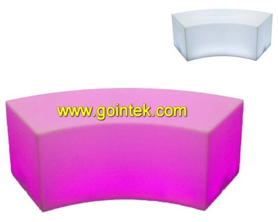 LED bench,glowing longe bench for event -