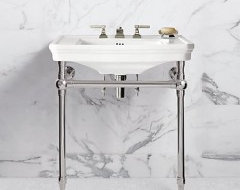 Bathroom Sink With Stand : also love this bathroom sink and metal stand. Where is it from? How ...