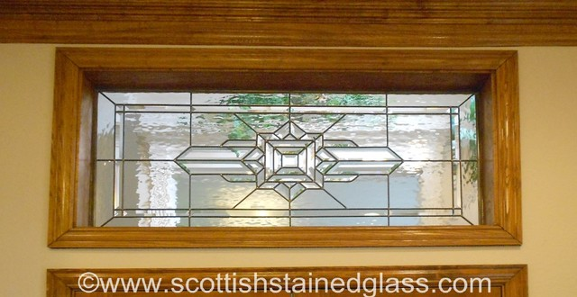 Transom stained glass traditional austin by scottish stained glass - Amazing stained glass fireplace screen designs with intriguing patterns ...